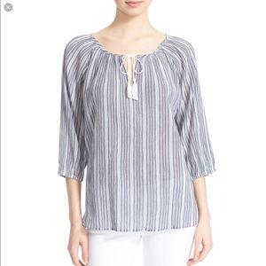 Soft Joie cotton peasant top